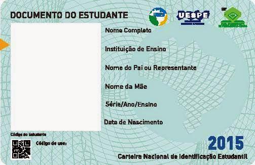 Carteira de Estudante 2015 Recife