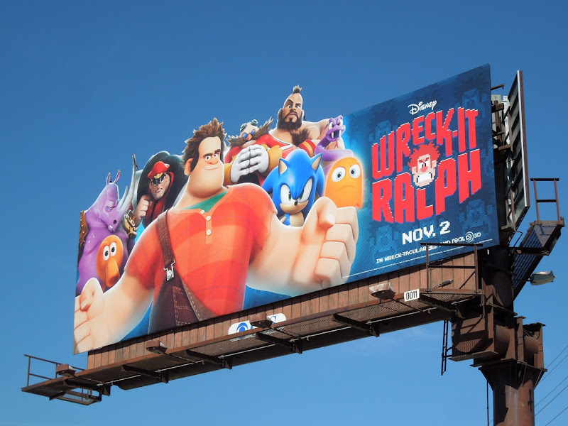 Wreck It Ralph special extension movie billboard