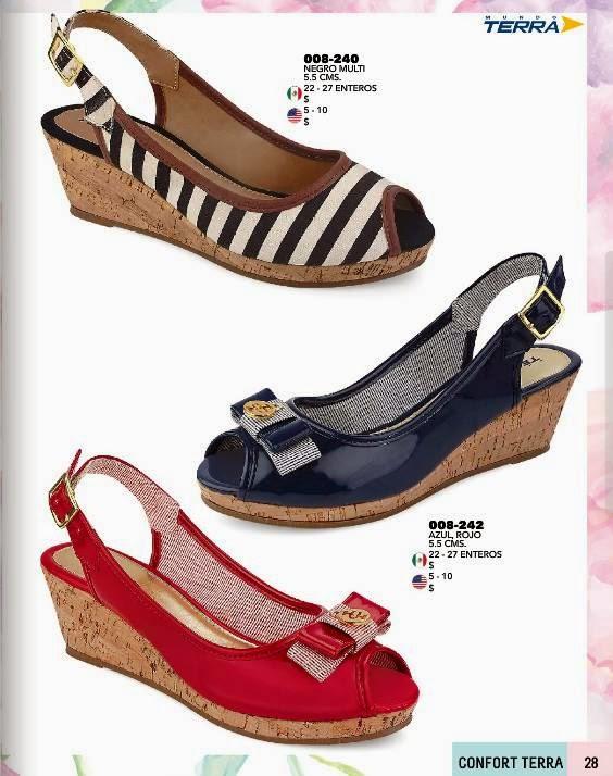 Zapatos con Lazo y de Rayas Terra PV 2015