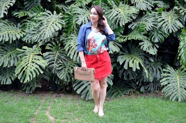 acessórios morana, morana novo shopping, morana acessórios, look colorido, saia jeans vermelha, como usar look vermelho, look azul e vermelho, blog camila andrade, camila andrade, blog de moda em ribeirão preto, fashion blogger em ribeirão preto, blogueira de moda em ribeirão preto