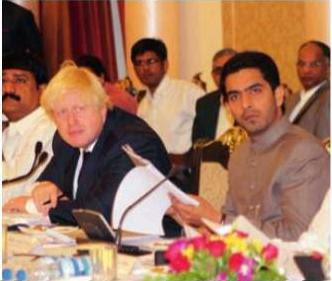 London Mayor Johnson and GHMC Mayor Majeed Hussein