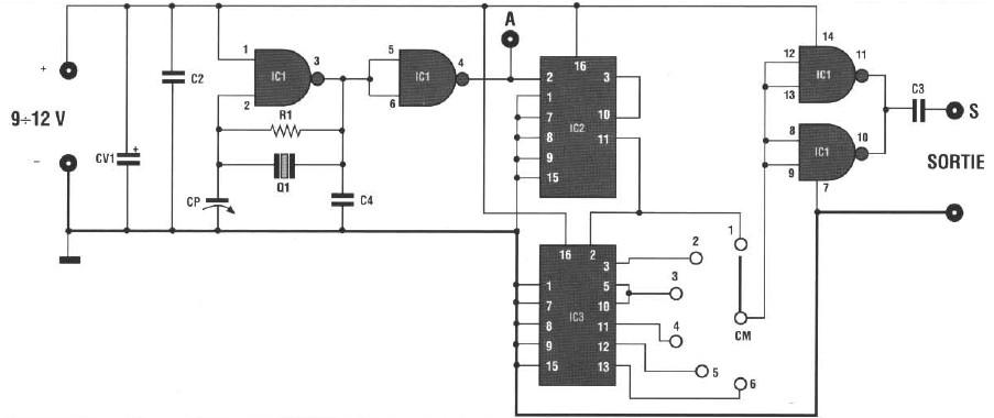 schema electronique gratuit montage  micro espion fm