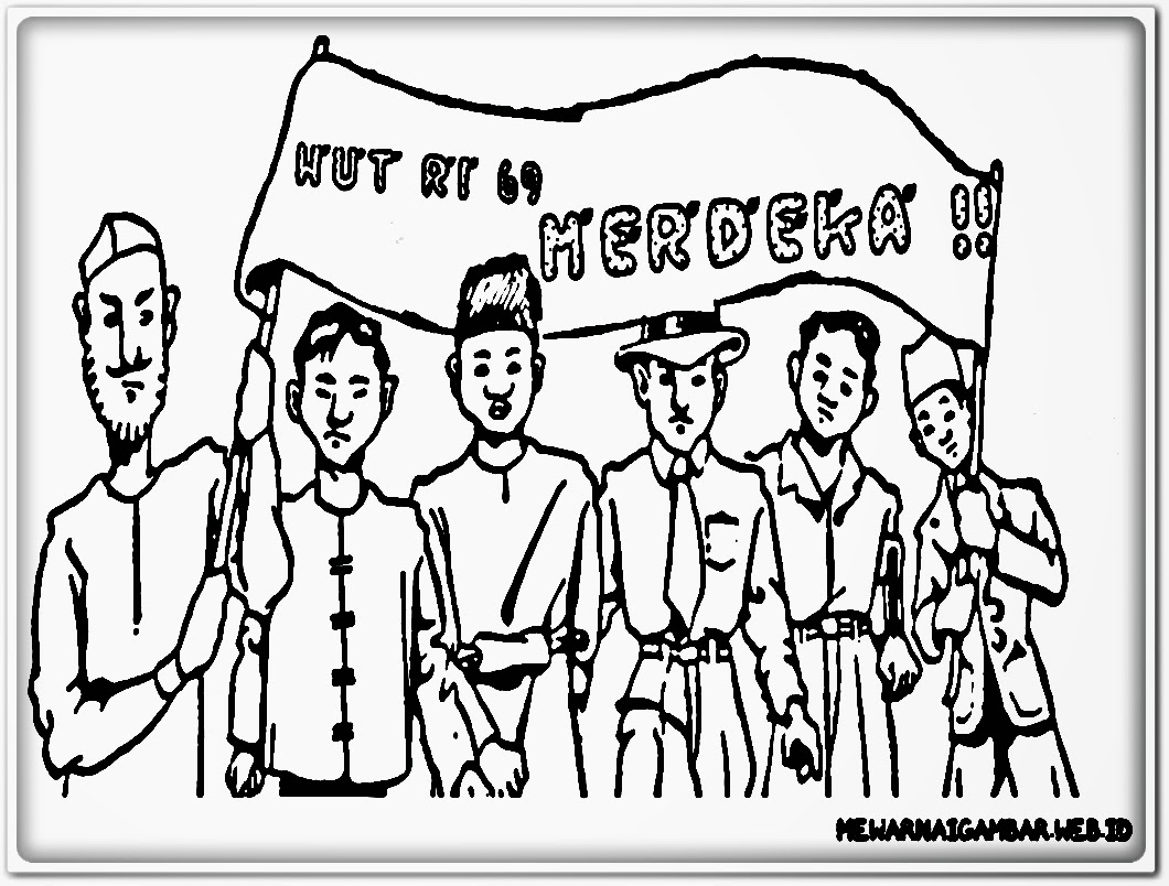gambar mewarnai karnaval memperingati hari kemerdekaan indonesia