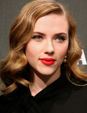 Heavenly Vintage Wedding Blog, hair to complement a 1940s wedding dress - Scarlett Johansson
