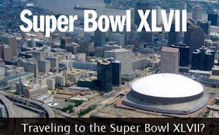 Super Bowl XLVII banner.