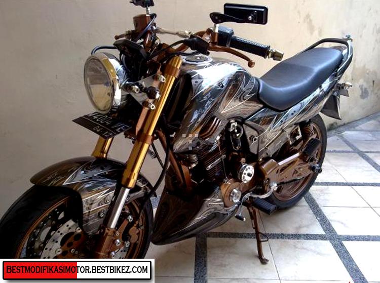 Modifikasi Honda MegaPro Air Brush