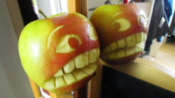 obras de arte con manzanas