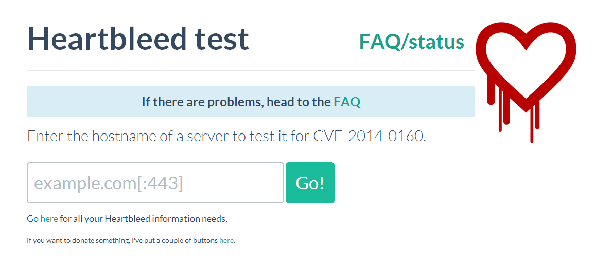 link to tool for testing for heartbleed vulnerability