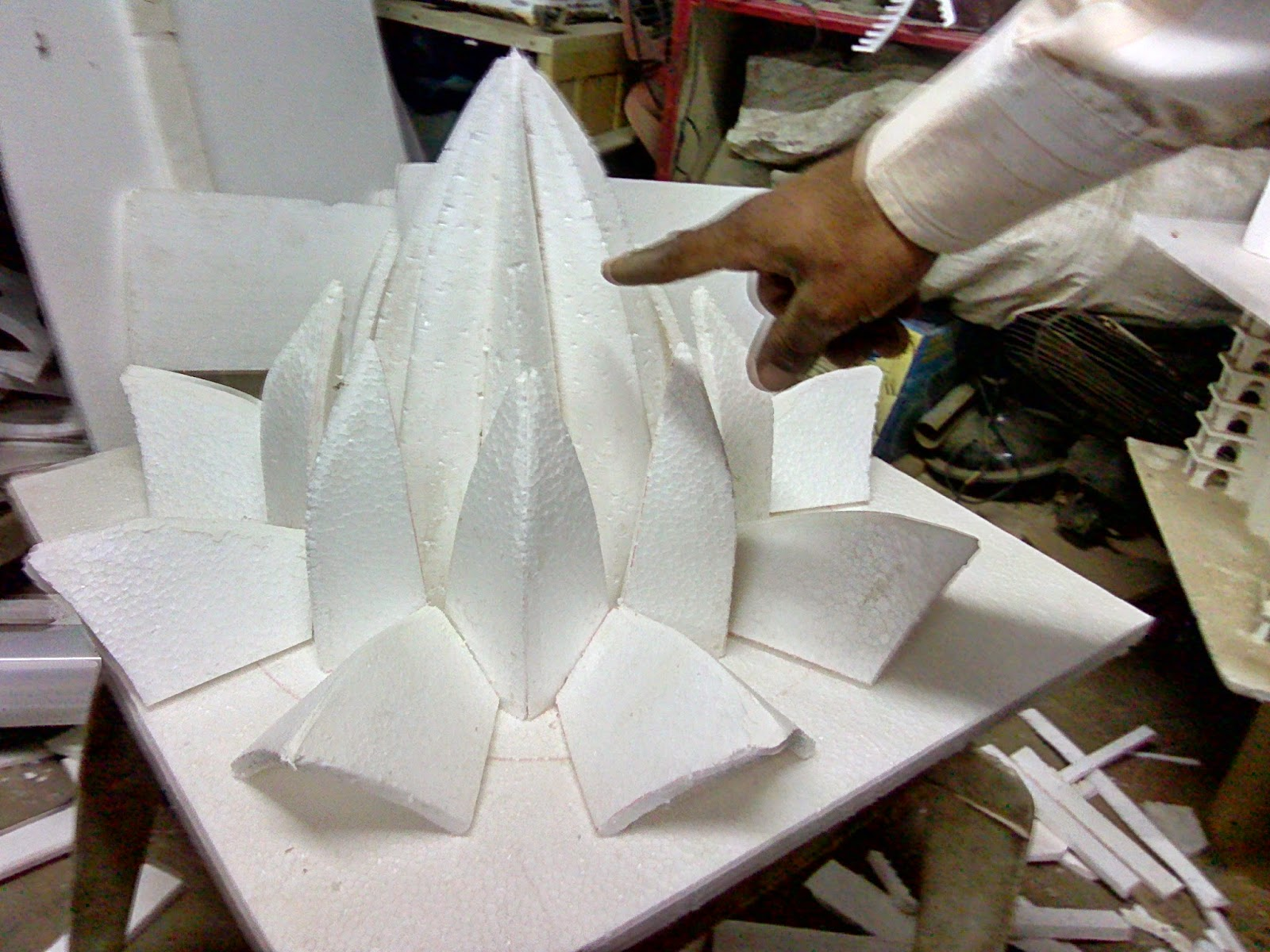 Learn New Things Hand Made Model Of Delhi Lotus Temple