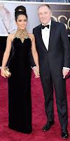 Салма Хайек с мъжа си Франсоа-Анри Пино на Оскарите 2013