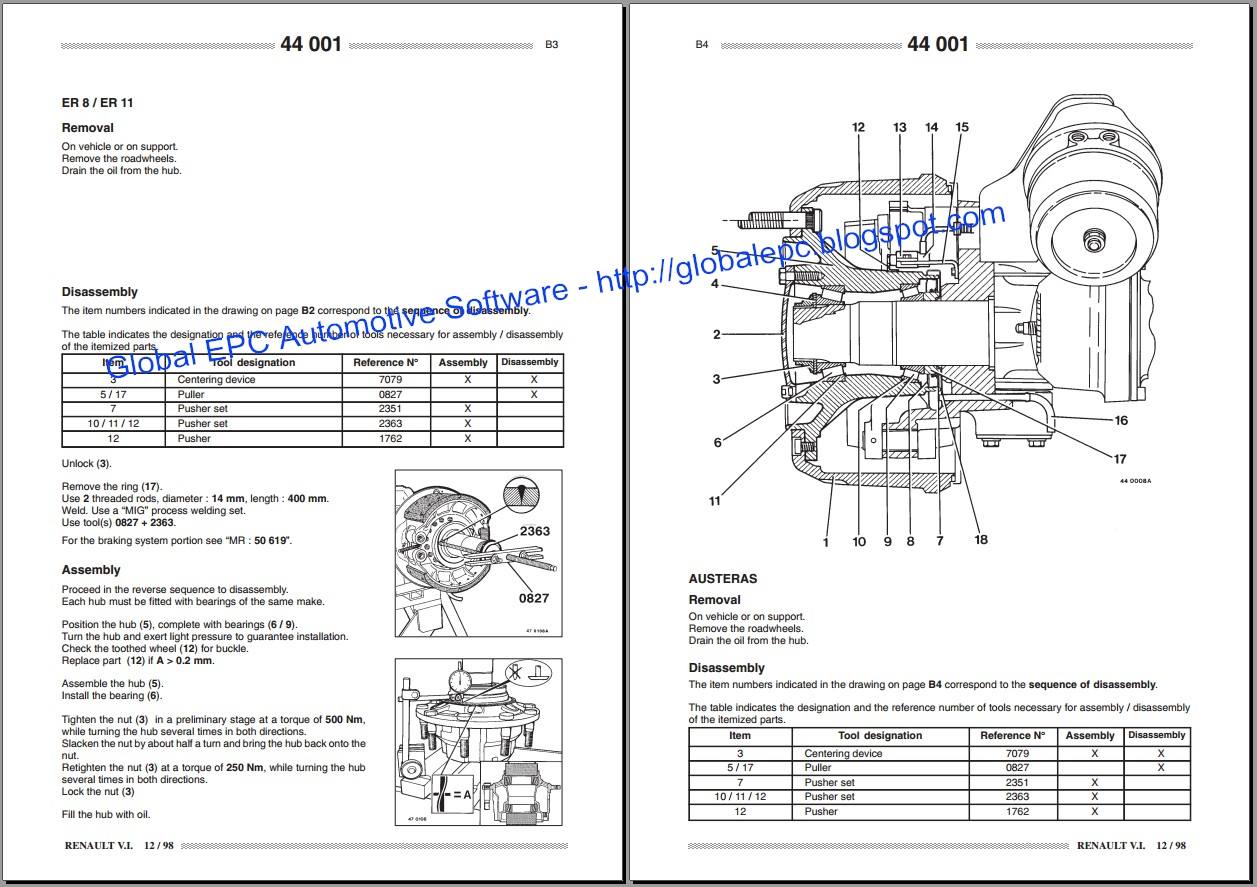 Renault Premium Workshop Service Manuals And Wiring Diagrams Euro Trailer Diagram