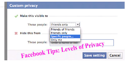 Facebook Tips: Levels of Privacy