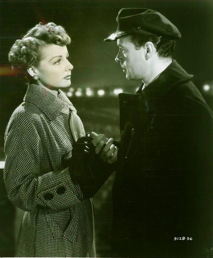 "Ross Ellott and Ann Sheridan in ""Woman on the Run"" (1950). San Francisco Public Library."