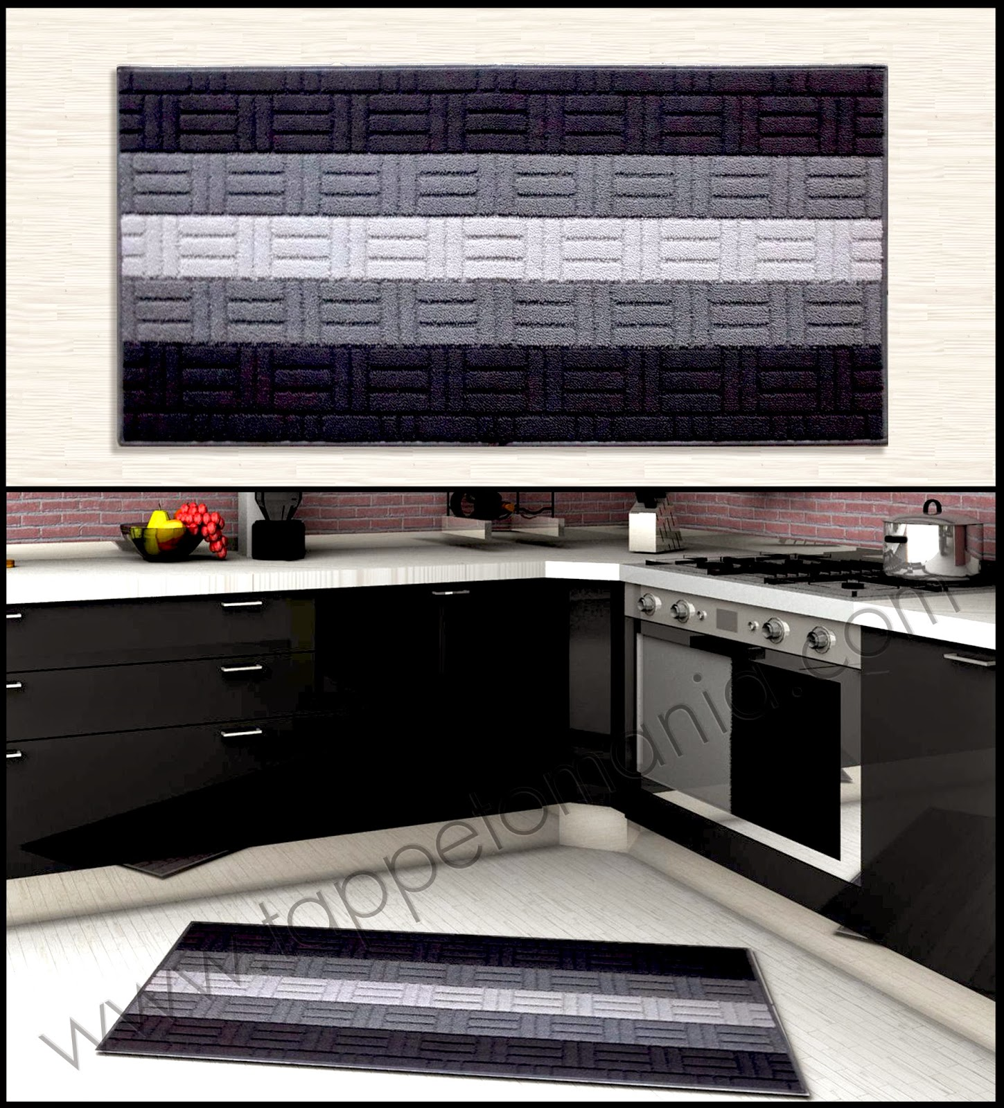 Stuoie per cucina tappeti passatoie tappeti bamboo - Tappeti per cucine ...