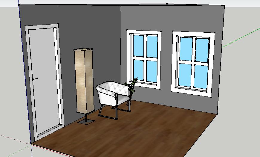 hvit ytterdør med vindu