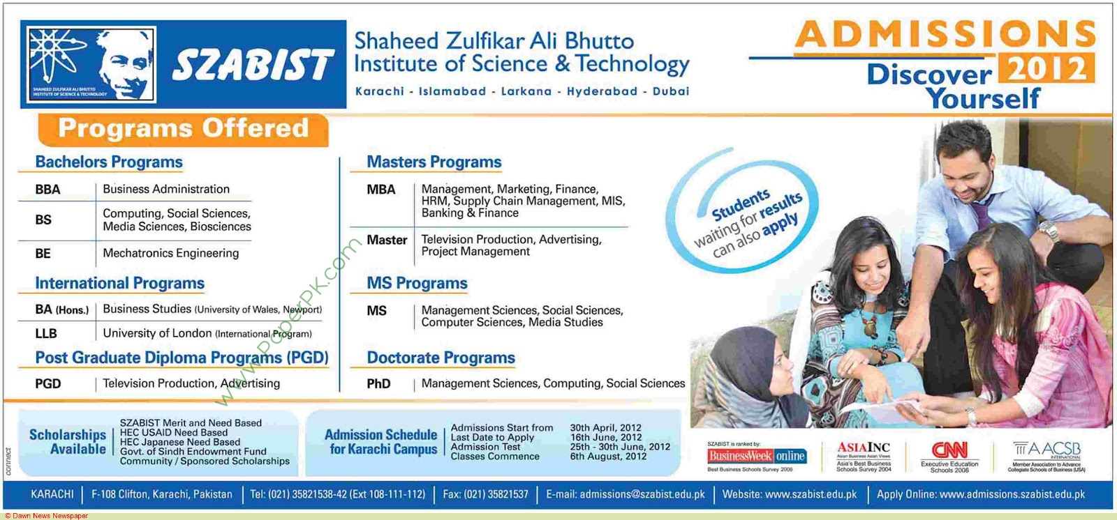 szabist s products and services View syed ghous ali shah's currently working as faculty member in szabist liaise with prospective clients to educate them on bank's services and products.