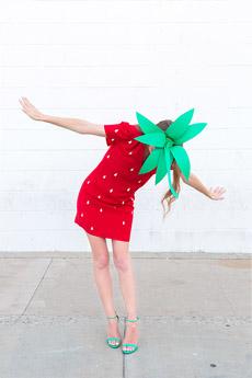 disfraz comida fresa