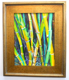 Bamboo Garden Original Acrylic Painting