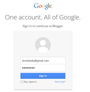 email dan password