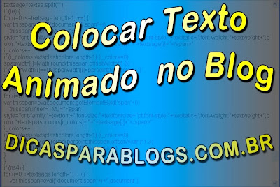 Como Colocar Texto em Movimento (Letreiro Animado) no Blog