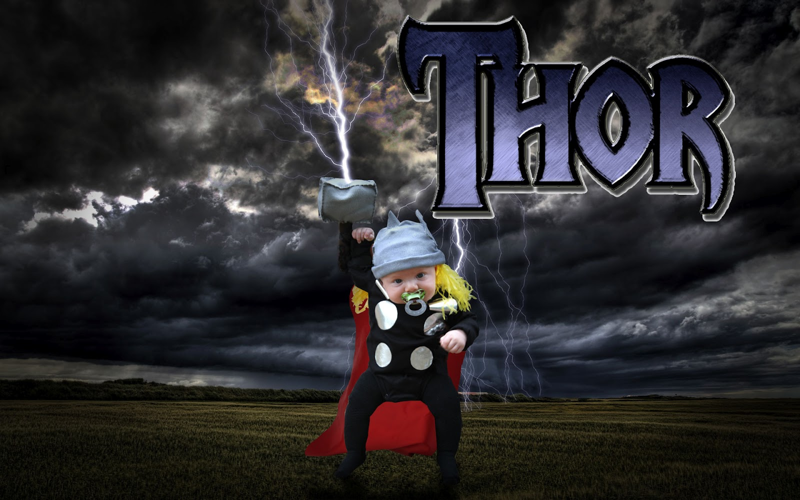 Life Sprinkled Glitter Homemade Thor Costume Infant