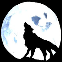 Wolf and Moon Painting - Maninder's Sketches Homepage