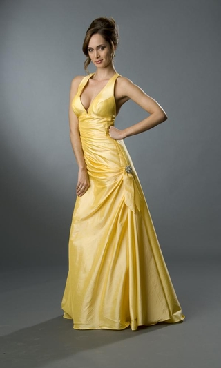 Wedding dresses gallery yellow formal dress for Yellow wedding dresses pictures
