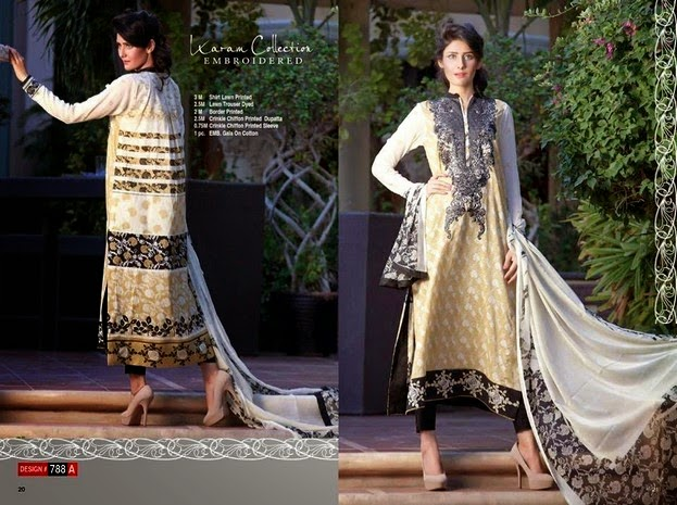 Karam Embroidered Dresses Collection