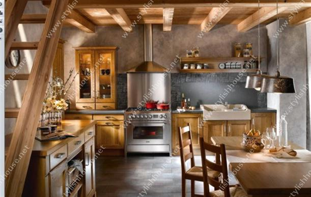 Rustic Contemporary French Style Kitchen Designs for more modern houses