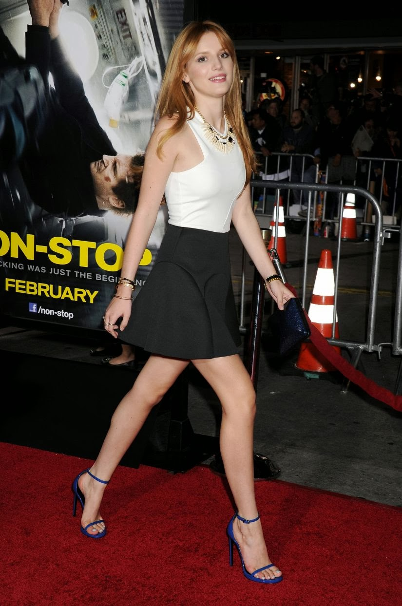 Bella Thorne Spicy Photos at Non-Stop Premiere in LA
