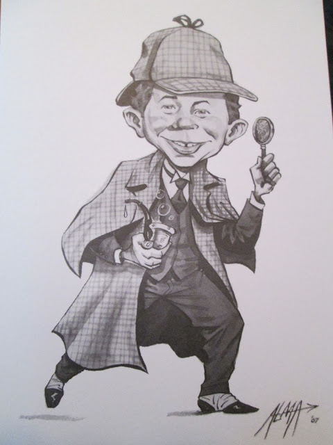 """What, me deduce?"" - Alfred E. Neuman as Sherlock Holmes"