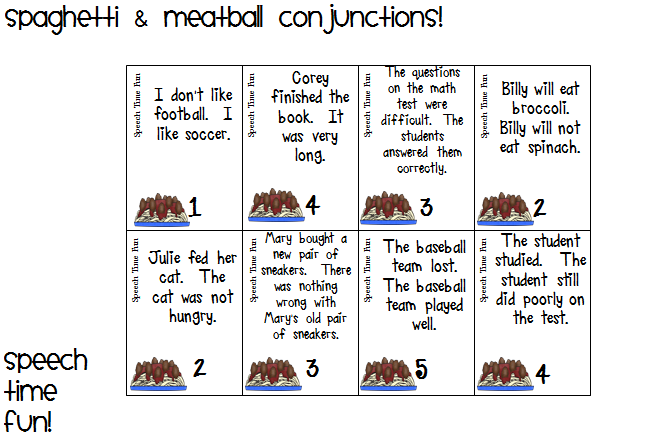 ... Spaghetti & Meatball Conjunctions! Using although, however, and but