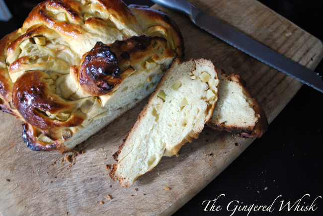 Honey and Apple Challah - The Gingered Whisk