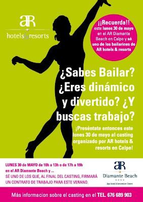 ¿Sabes Bailar, eres dinámico y divertido, y buscas trabajo? Casting Lunes, 30 de mayo en Calpe