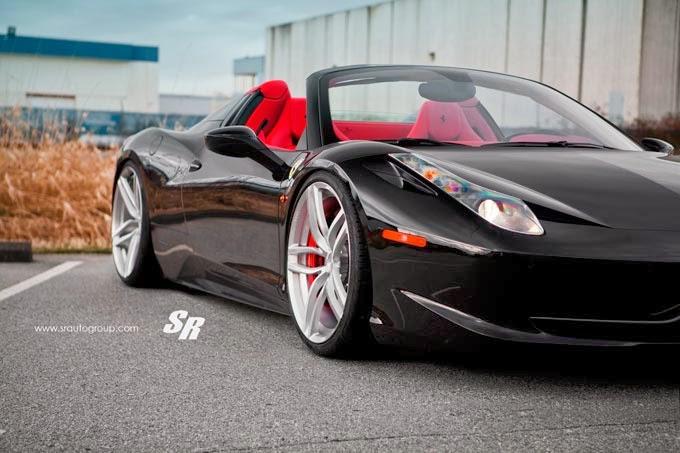 Ferrari 458 Spider Preta