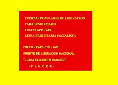 FRENTE DE LIBERACION NACIONAL CLARA ELIZABETH RAMIREZ - FLNCER - DE EL SALVADOR