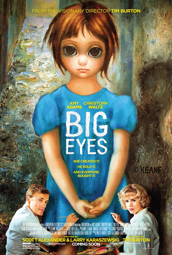 Póster: Big Eyes, Tim Burton.