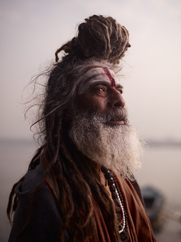 PORTRAIT OF BABA NONDO SOMENDRAH  Varanasi, India