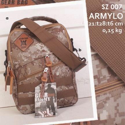 jual online tas selempang pria dari bahan kanvas dengan motif loreng army harga murah