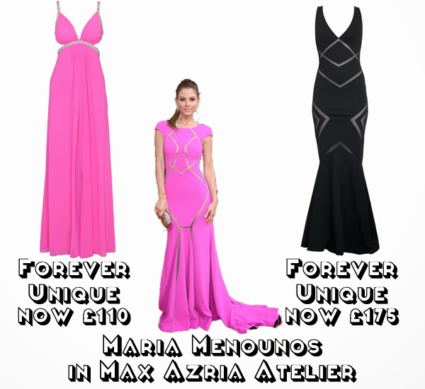 Steal Her style golden globes 2014  get the look red carpet fashion maria menounos max azeria atelier forever unique