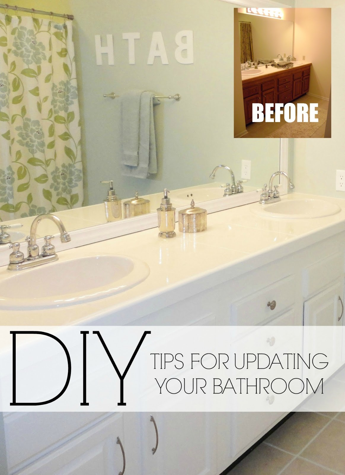 Livelovediy easy diy ideas for updating your bathroom for Small bathroom upgrade ideas
