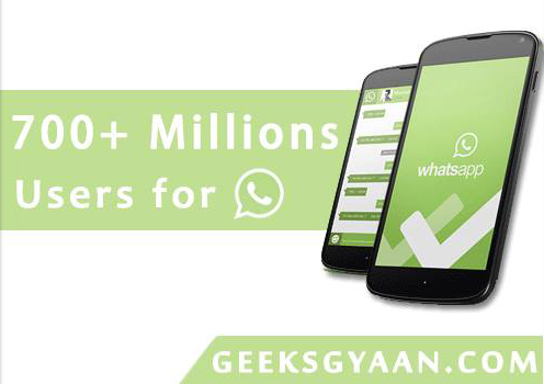 700 Plus Million Users for WhatsApp
