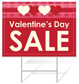 Valentine's Day Sale Yard Sign | Banners.com