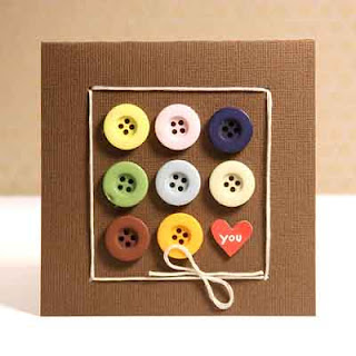 Tarjeta de botones hecha a mano