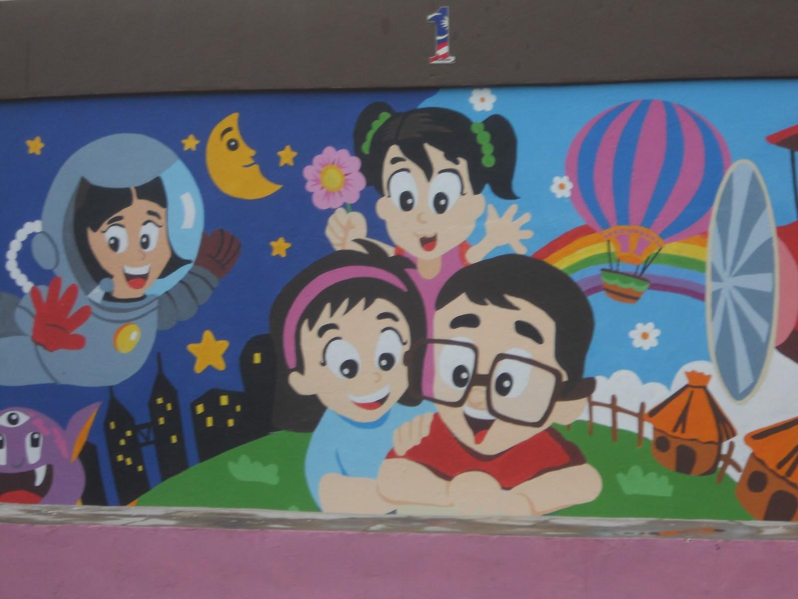 Become a better you with art mural hasil kerja tahun 6 for Mural sekolah rendah