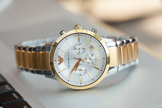 Đồng hồ nam dây inox cao cấp giá rẻ Armani
