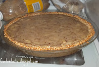 Guiltless Banana Pie with Peanut Butter Topping by Custom Taste. In celebration for PI day!