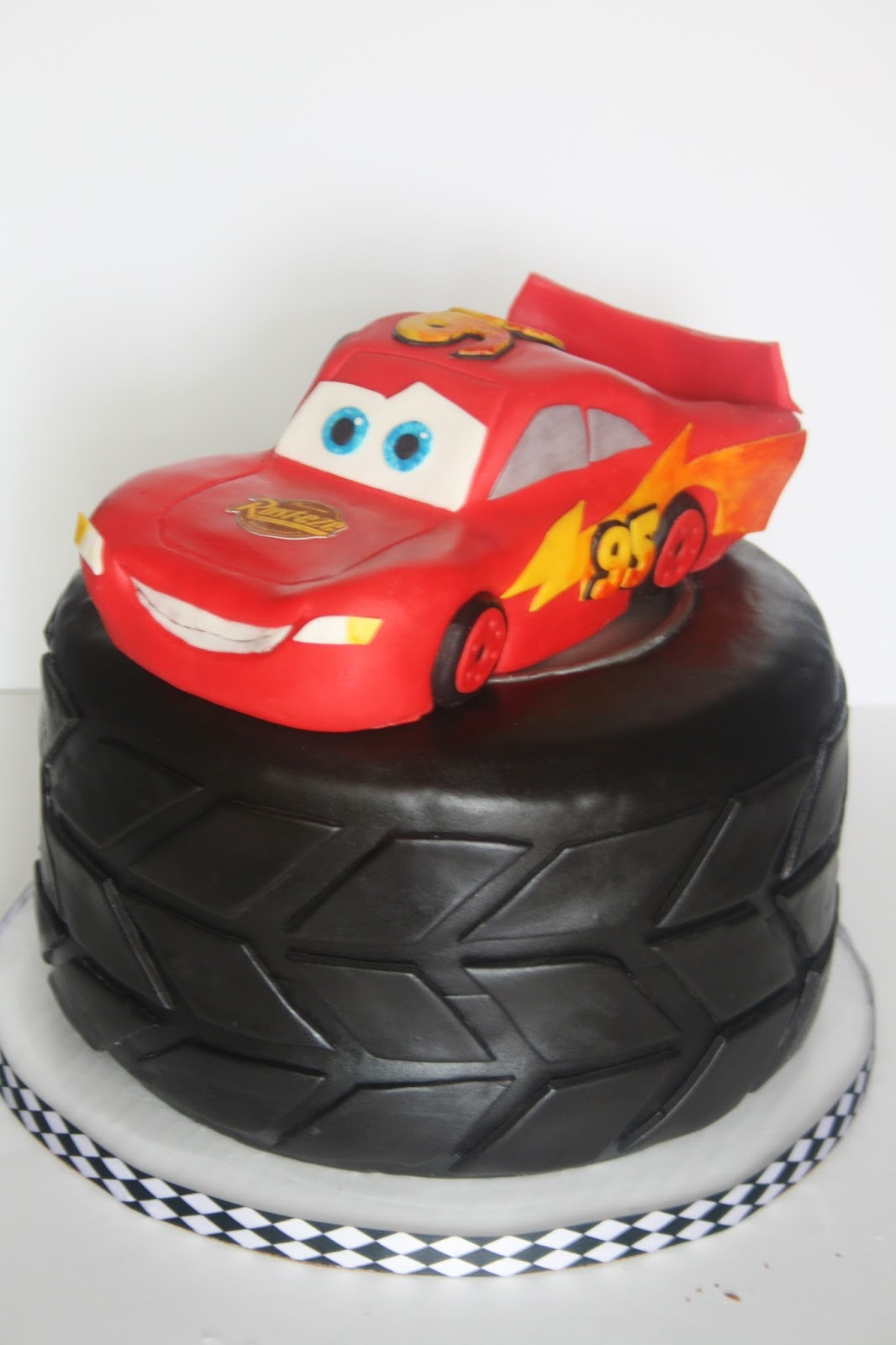 And Everything Sweet Lightning McQueen Cake
