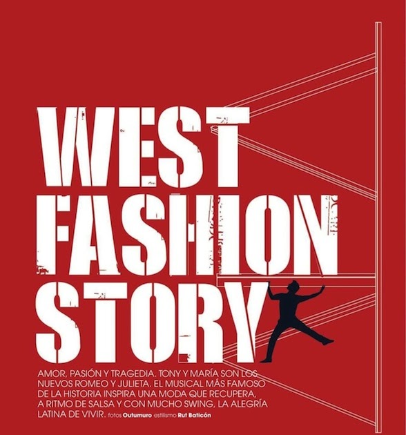 """The Terrier and Lobster: """"West Fashion Story"""" by Outumuro for Marie Claire Spain"""