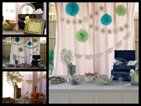 growing up gardner honeymoon bridal shower vintage travel theme